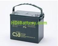 Bateria de Plomo EVX-12520 CSB 12 Voltios 52 Amperios